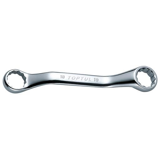 TOPTUL 12x13 Midget Double Ring Wrench Set