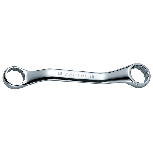 TOPTUL 14x15 Midget Double Ring Wrench Set