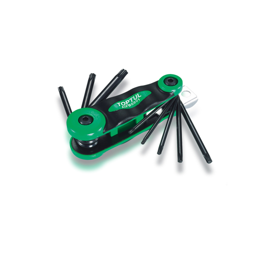 TOPTUL 8-in-1 Foldable Star Key Wrench Set