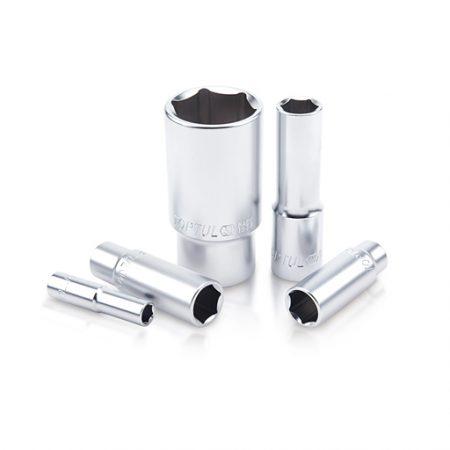 TOPTUL 6mm 1/4($) Dr. 6PT Deep Satin Sockets