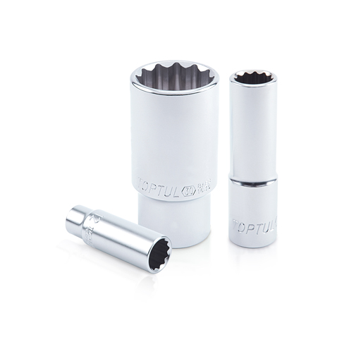 TOPTUL 9mm 3/8($) Dr. 12PT Deep Socket