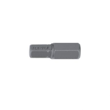 TOPTUL 7mm Hex x 5/16($) Hex x 30mm Long Bit