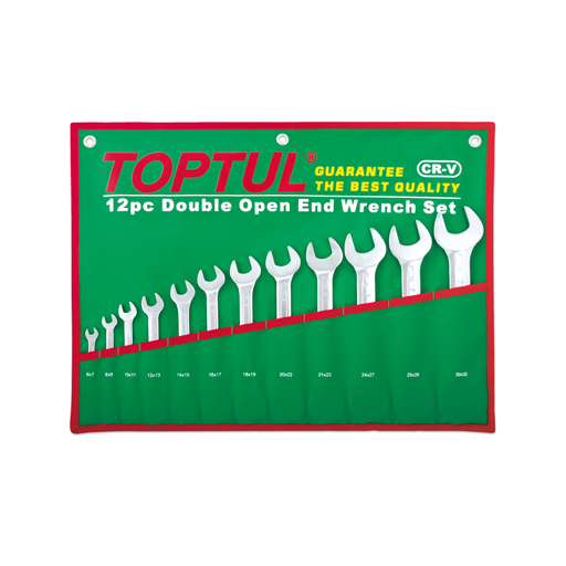 TOPTUL 12 Piece Double Open Ended Wrench Set