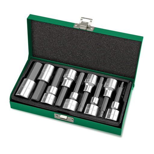TOPTUL 9 Piece 1/2($) Dr. Hex Bit Socket Set