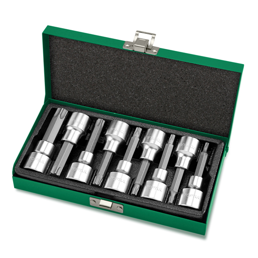 TOPTUL 9 Piece 1/2($) Dr. Long Star Bit Socket Set