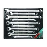 TOPTUL 10 Piece Metric Extra Long Combination Wrench Set