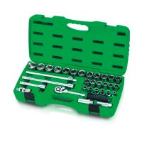 TOPTUL 31 Piece 1/2($) Dr. Metric Socket Set
