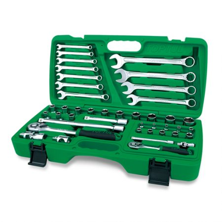 TOPTUL 42 Piece 1/4($) & 1/2($) Dr. Socket & Wrench Set