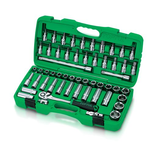 TOPTUL 1/2($) Dr. 55 Piece Socket Set