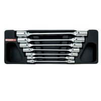 TOPTUL 7 Piece Double Ended Swivel Socket Set