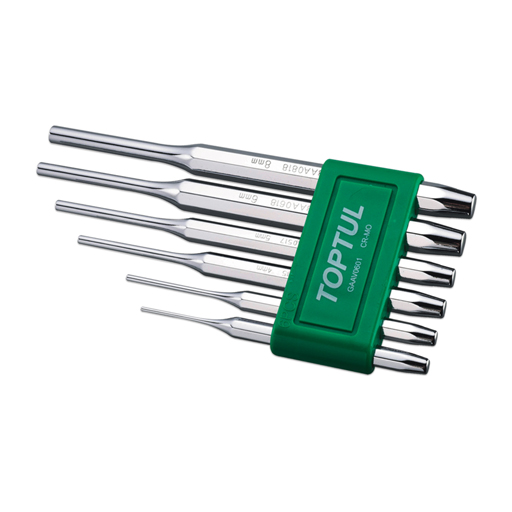 TOPTUL 6 Piece Pin Punch Set