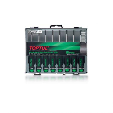 TOPTUL 8 Piece Phillips/Slot Precision Screwdriver Set