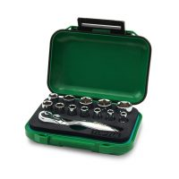 TOPTUL 13 Piece 1/4($) Dr. Mini Ratchet Socket Set