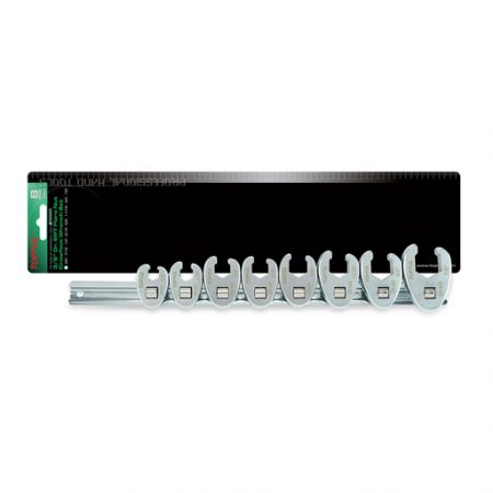 TOPTUL 8 Piece 3/8($) Dr. 6PT Imperial Crows Foot Wrench Set