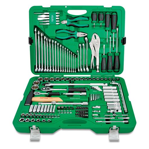 TOPTUL 150 Piece 1/4($) & 1/2($) Dr. 12PT Socket & Tool Set
