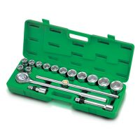 TOPTUL 17 Piece 3/4($) Dr. 6PT Flank Socket Set