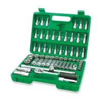 TOPTUL 60 Piece 3/8($) Dr. Metric Socket & Bit Set
