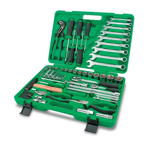 TOPTUL 80 Piece 1/4($) & 1/2($) Dr. Tool Kit