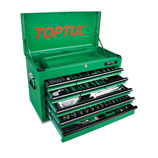 TOPTUL 9-Drawer 186 Piece Tool Chest Set