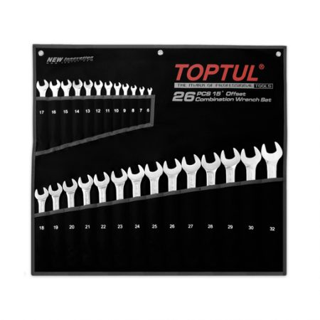 TOPTUL 26 Piece 15D Standard Combination Wrench Set
