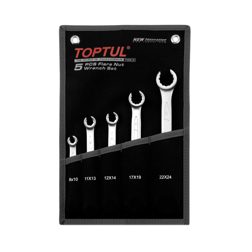 TOPTUL 5 Piece Flare Nut Wrench Set