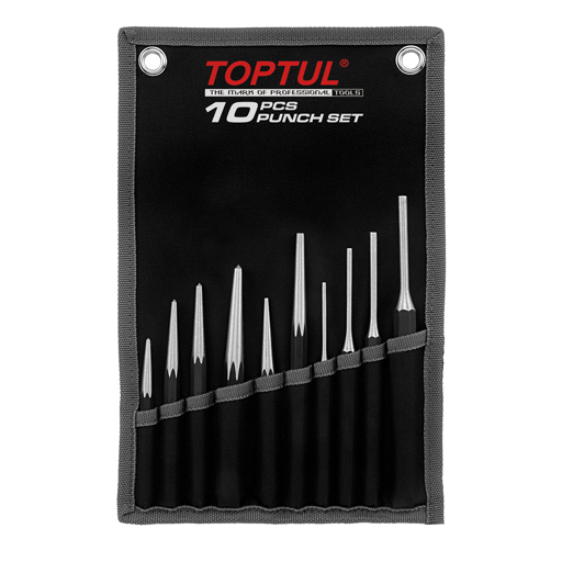 TOPTUL 10 Piece Punch Set