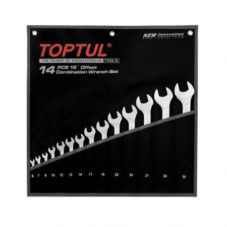 TOPTUL 14 Piece Super Torque Combi Wrench Set