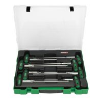 TOPTUL 8 Piece T Handled Hex Nut Driver Set