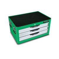 TOPTUL Pro-Line Green/Grey 3 Drawer Mid Chest