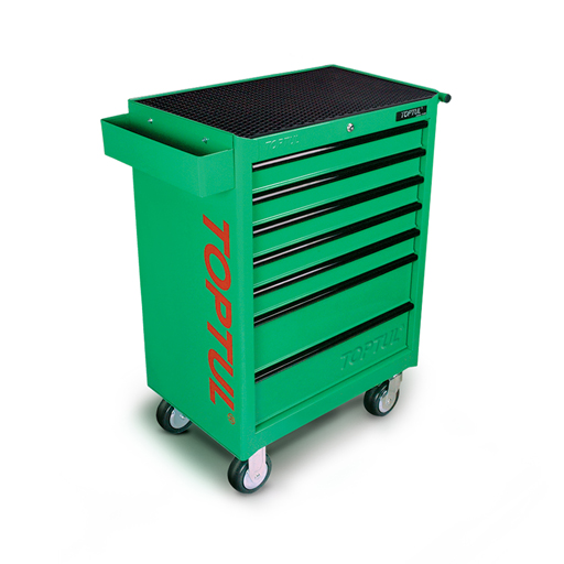 TOPTUL Green 7 Drawer Mobile Tool Trolley