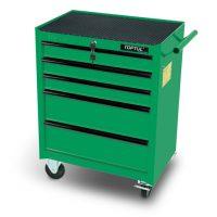 TOPTUL Green 5 Drawer Mobile Tool Trolley