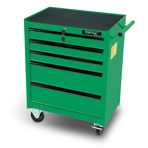 TOPTUL Green 5 Drawer Mobile Tool Trolley