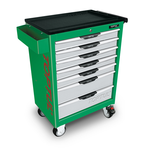 TOPTUL Pro-Line Green 7 Drawer Mobile Tool Trolley