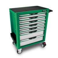 TOPTUL Green 7 Drawer Pro-Plus Roll Cabinet