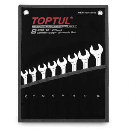 TOPTUL 8 Piece Super Torque Combination Wrench Set