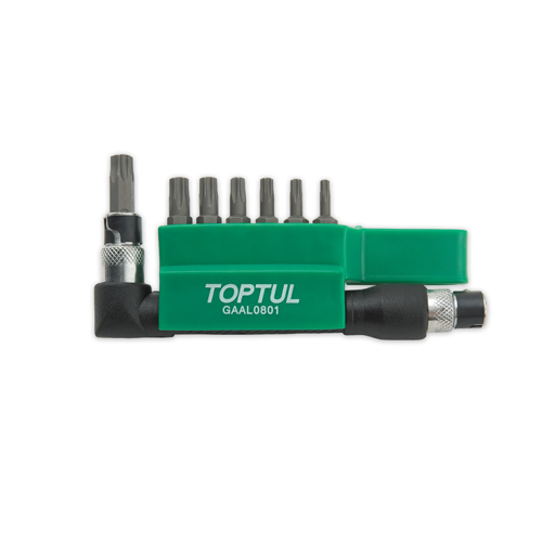 """TOPTUL 8 Piece 1/4"""" Drive Star Bit Set"""