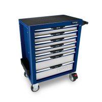 TOPTUL Blue 7 Drawer Pro-Plus Roll Cab w/ Locking Drawers