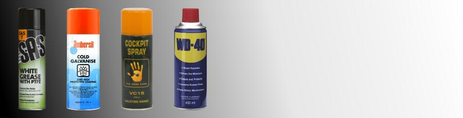 Workshop Sprays and Chemicals