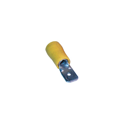 yellow spade terminal male 6.3mm